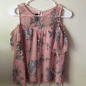 floral off the shoulder lace blouse